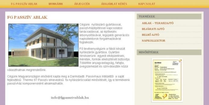 FG Passzív Ablak Kft.